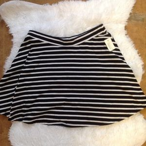 NWT Striped Skater Skirt